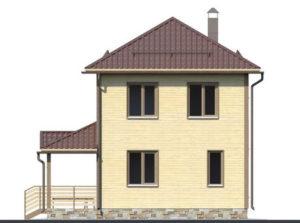 Дом из бруса БСУ-ПБ 17