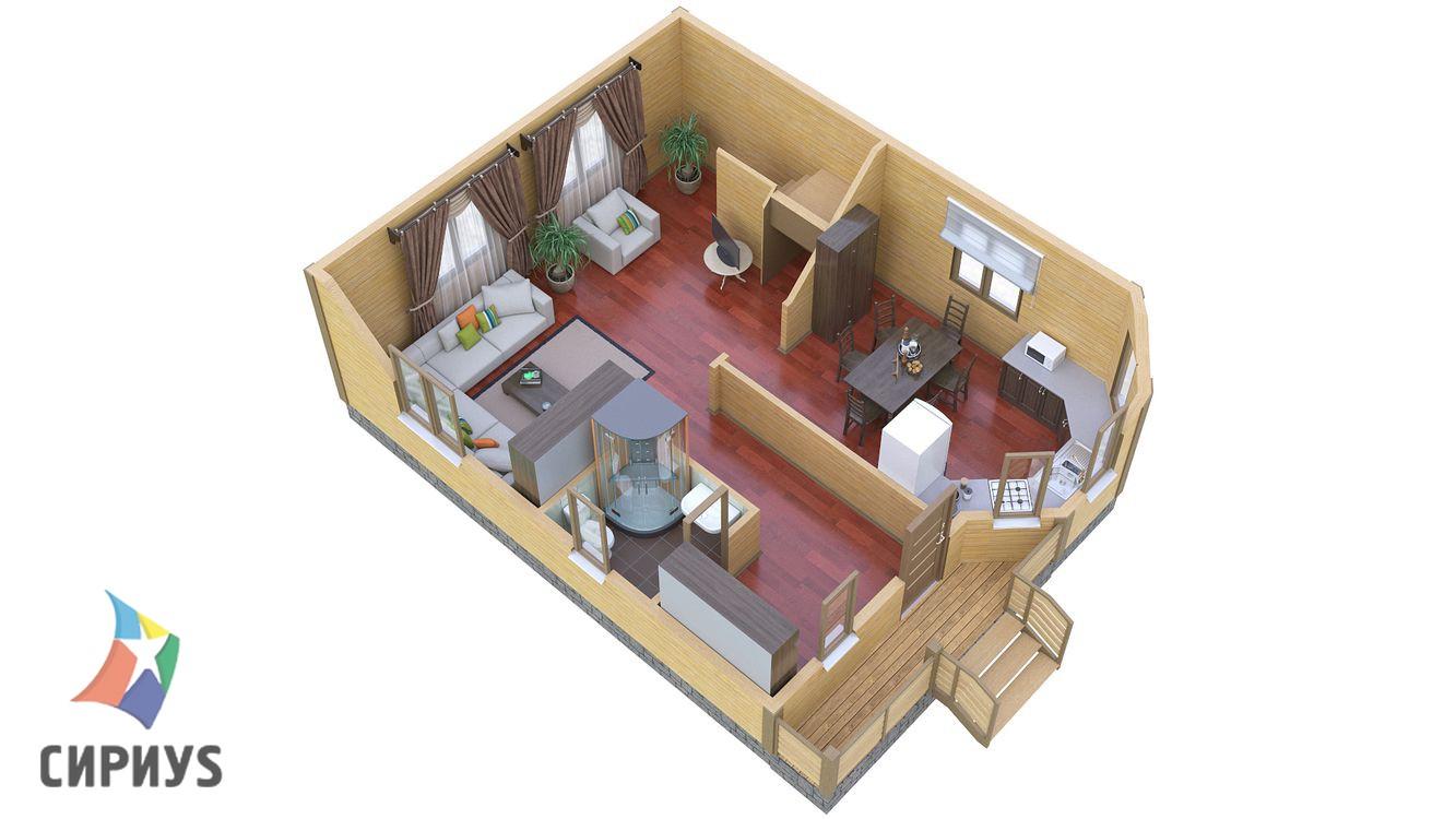 Дом из бруса БСУ-ПБ 16