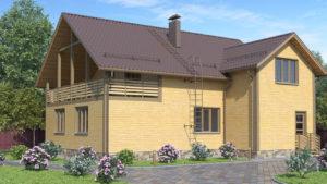 Дом из бруса БСУ-ПБ 28