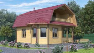 Дом из бруса БСУ-ПБ 5