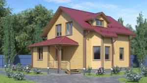 Дом из бруса БСУ-ПБ 13