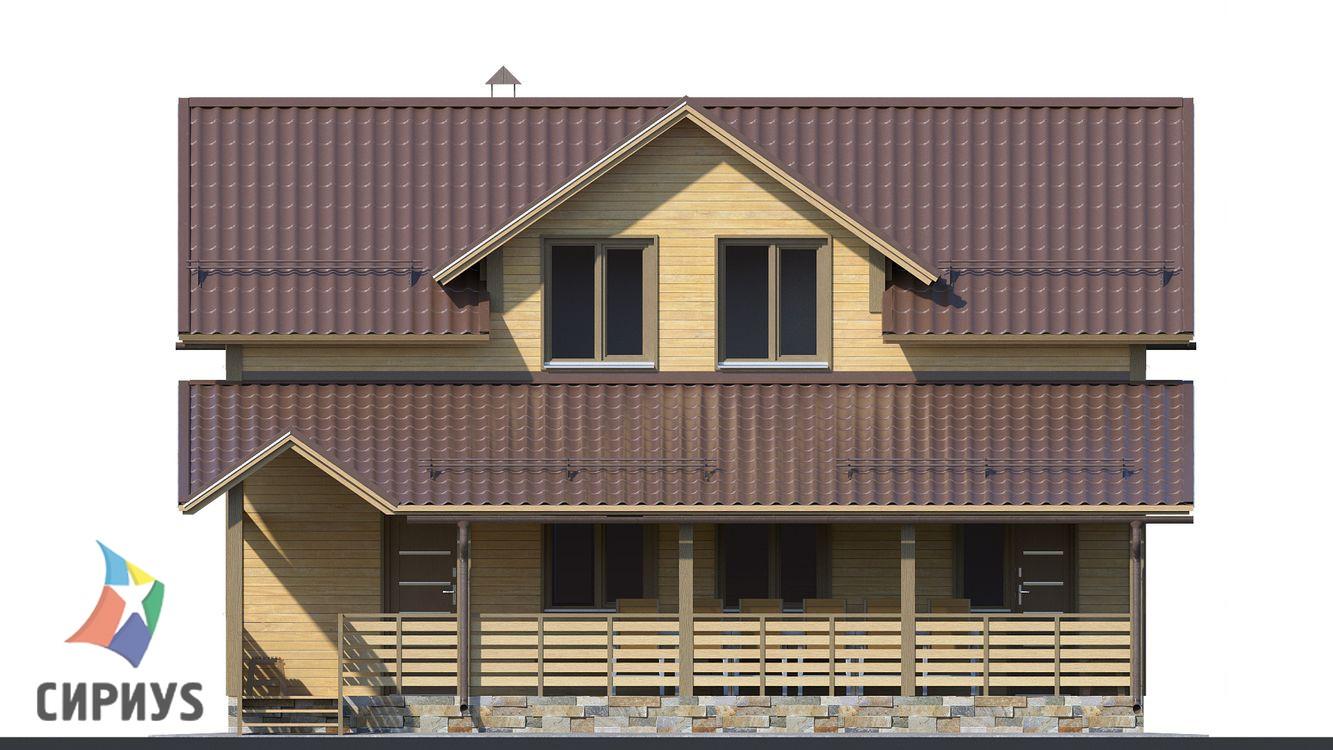 Дом из бруса БСУ-ПБ 25