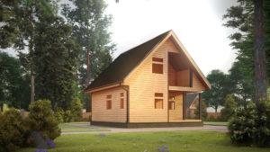 Дом из бруса БСУ-УС 34
