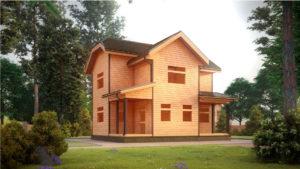 Дом из бруса БСУ-УС 48