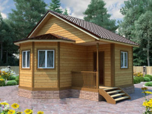 Деревянная баня БСУ-БП 2