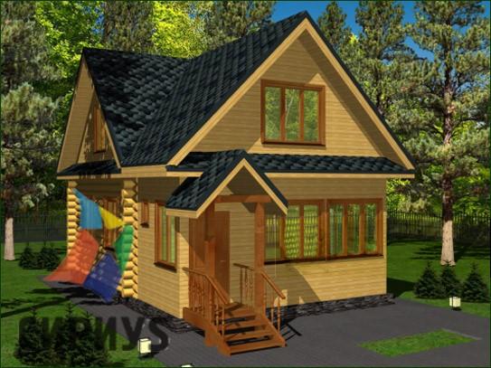 Дом из бревна БСУ-КБ 4