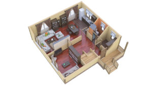 Дом из бруса БСУ-ПБ 20
