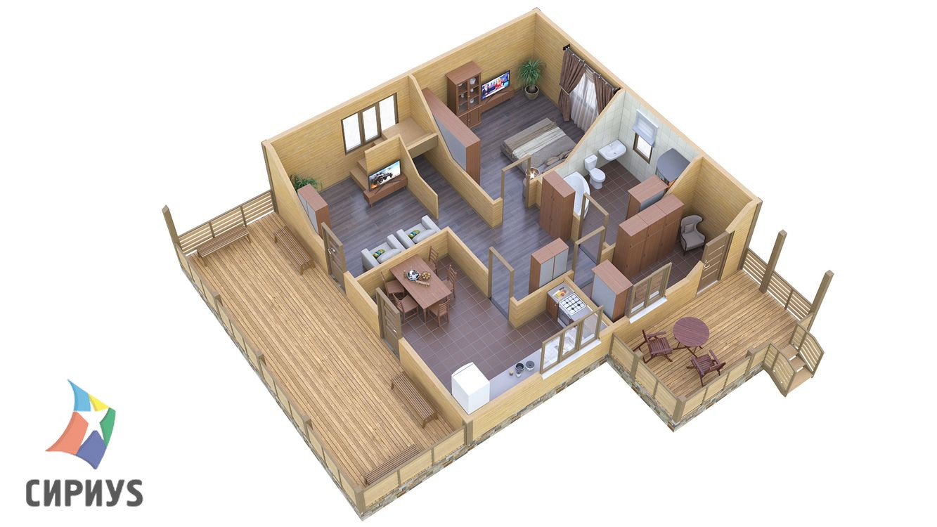 Дом из бруса БСУ-ПБ 27