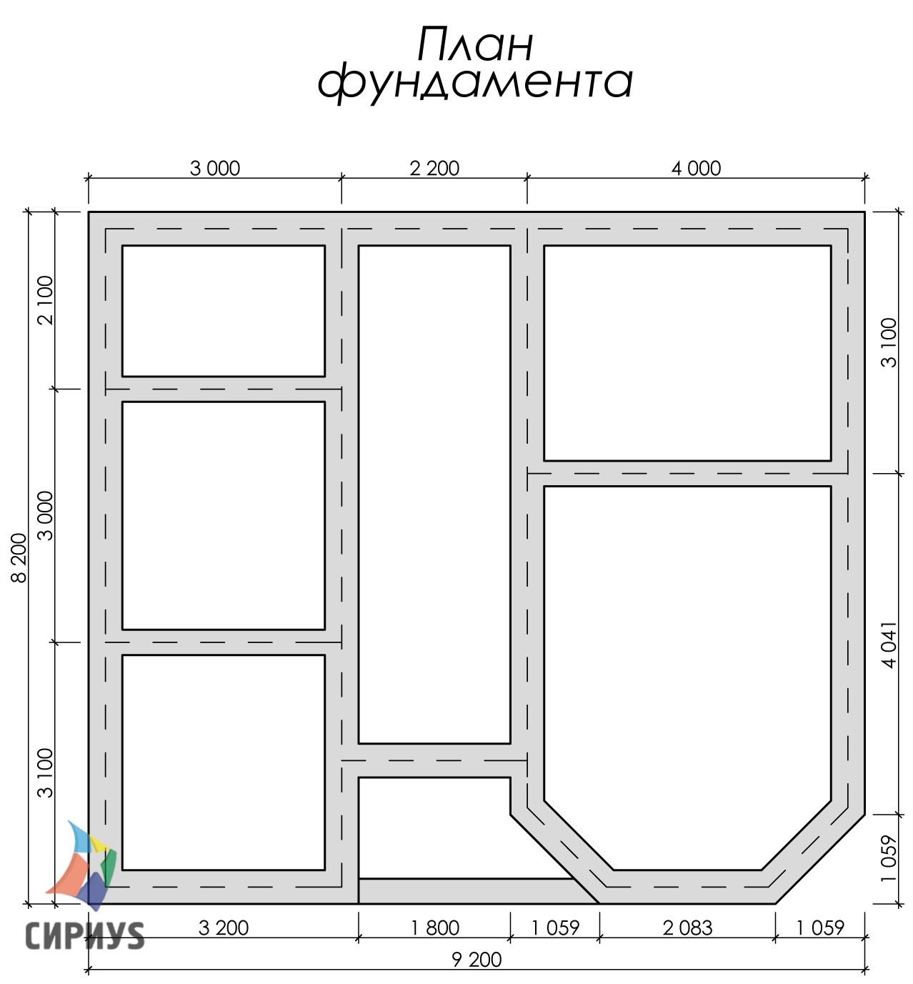 Дом из бруса БСУ-УС 44
