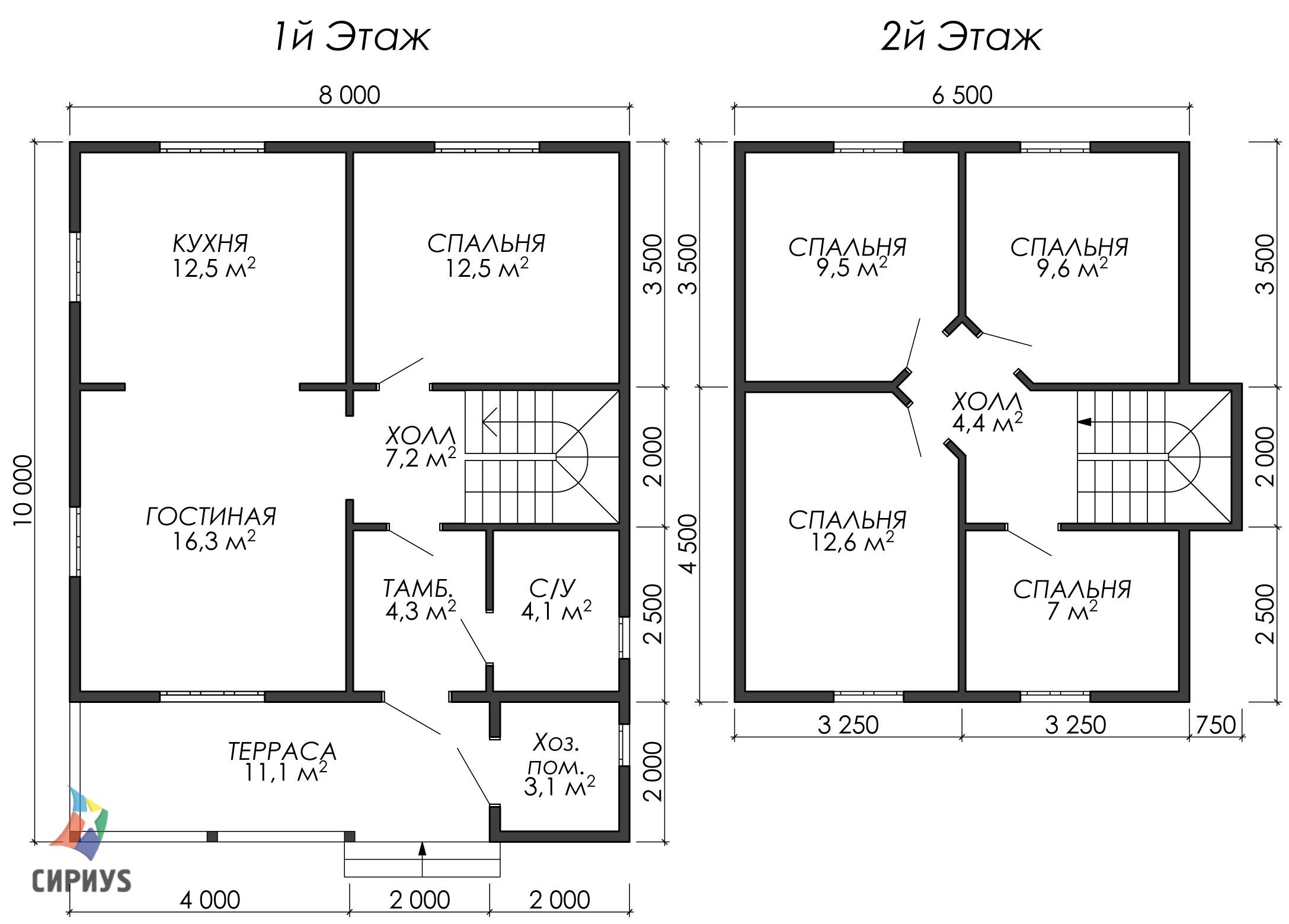 Дом из бруса БСУ-УС 51