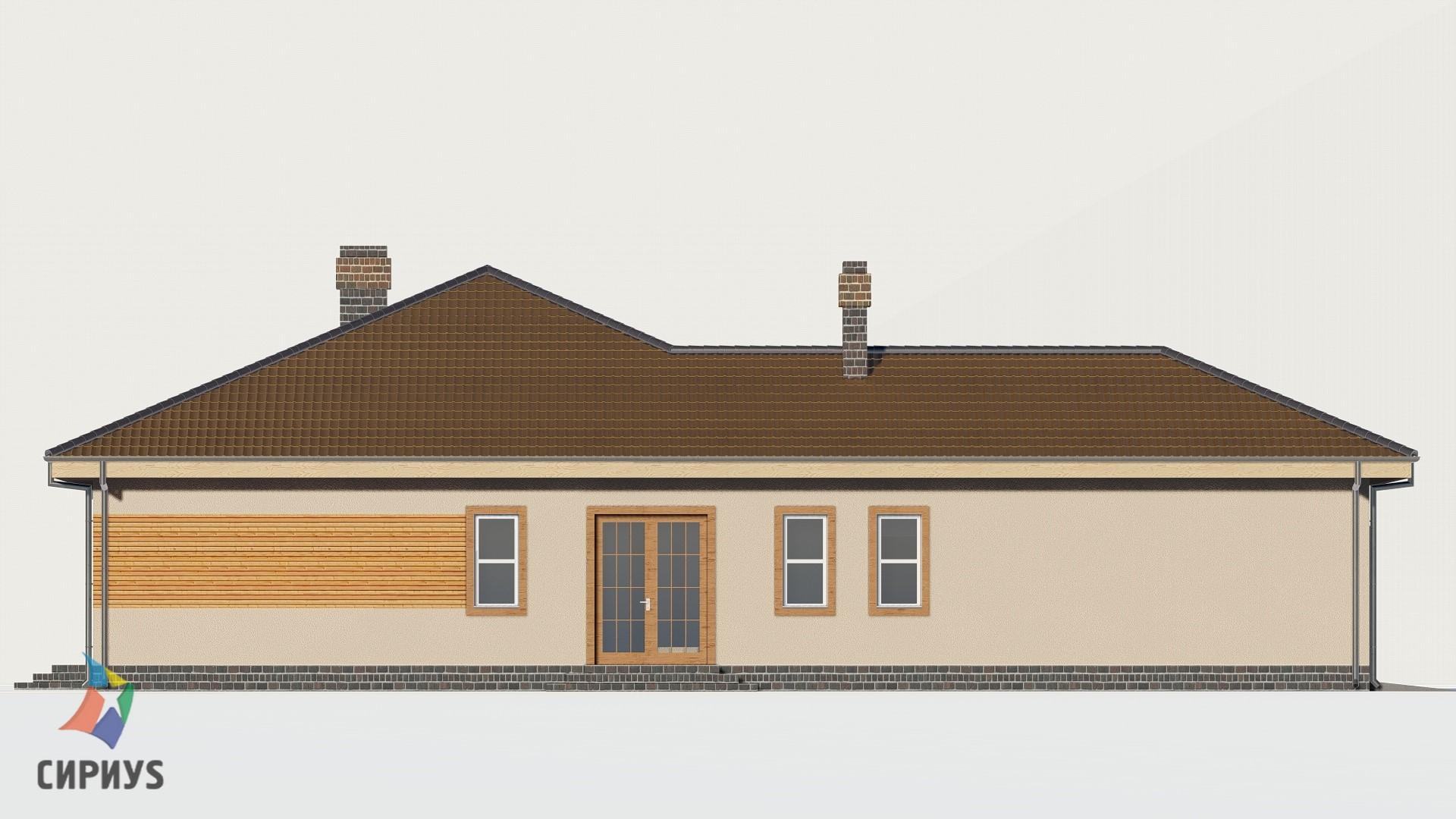 Дом из бруса БСУ-ПБ 3