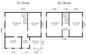 Дом из бруса БСУ-УС 42