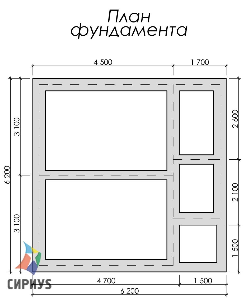 Дом из бруса БСУ-УС 6