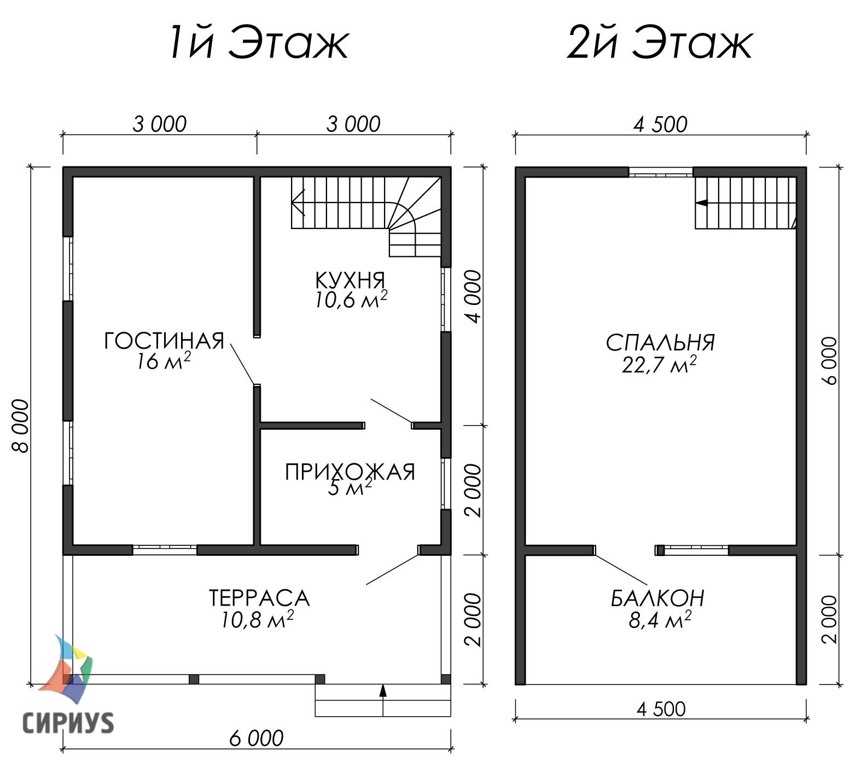 Дом из бруса БСУ-УС 28