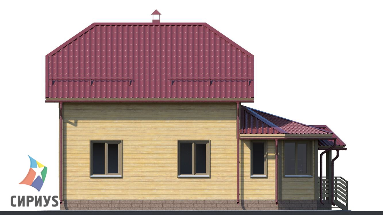 Дом из бруса БСУ-ПБ 12