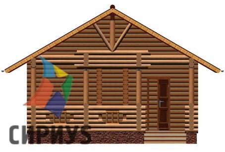 Деревянная баня БСУ-БК 5