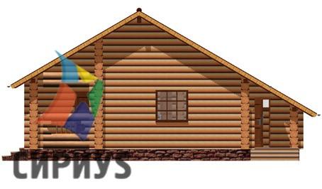 Деревянная баня БСУ-БК 10