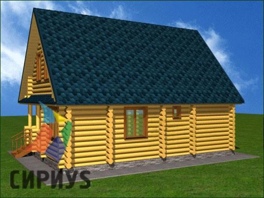 Дом из бревна БСУ-КБ 5