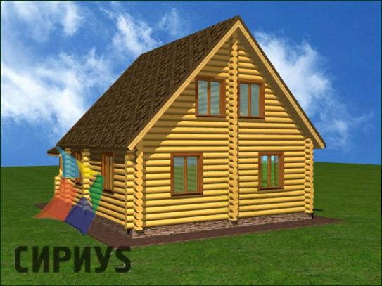 Дом из бревна БСУ-КБ 11