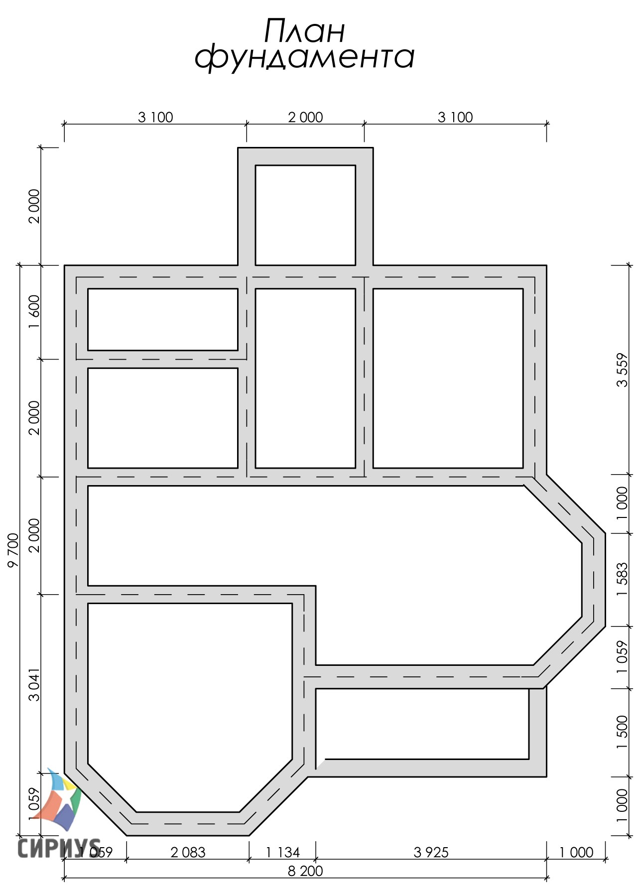 Дом из бруса БСУ-УС 55