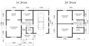 Дом из бруса БСУ-УС 49