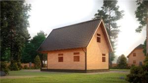 Дом из бруса БСУ-УС 35