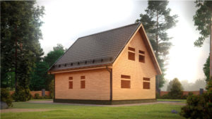 Дом из бруса БСУ-УС 45