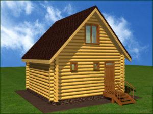 Дом из бревна БСУ-КБ 1