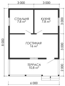 Дом из бруса БСУ-УС 2