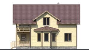 Дом из бруса БСУ-ПБ 26