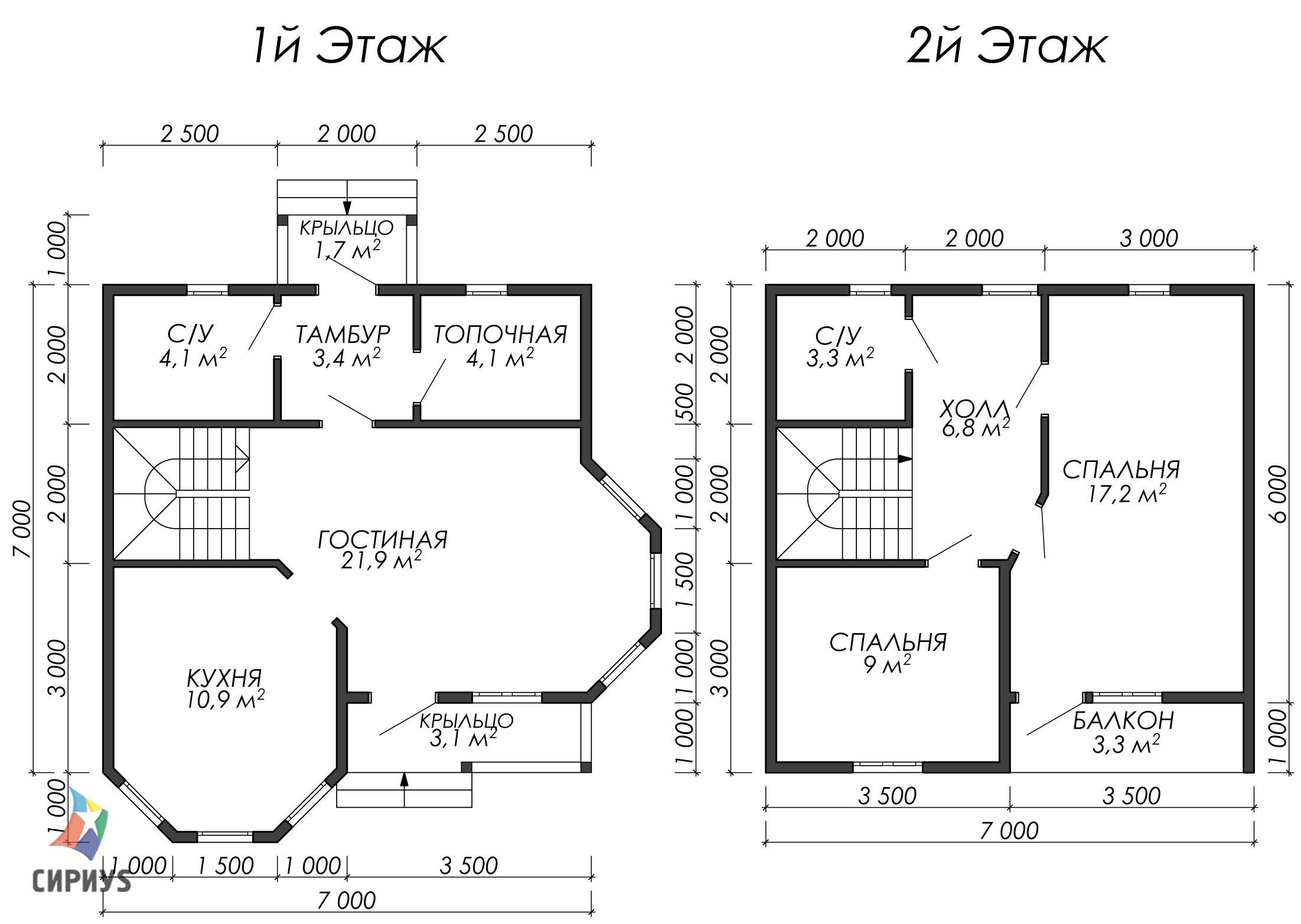Дом из бруса БСУ-УС 38