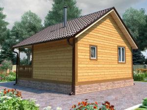 Деревянная баня БСУ-БП 1