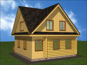 Дом из бревна БСУ-КБ 9