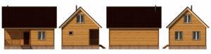 Деревянная баня БСУ-БП 8