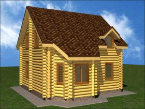 Дом из бревна БСУ-КБ 6
