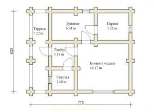Деревянная баня БСУ-БК 4