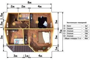 Деревянная баня БСУ-БП 10