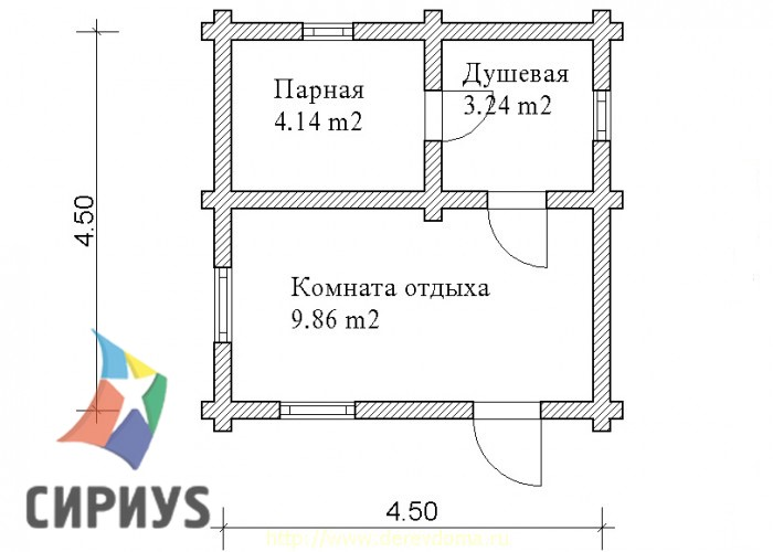 Деревянная баня БСУ-БК 1