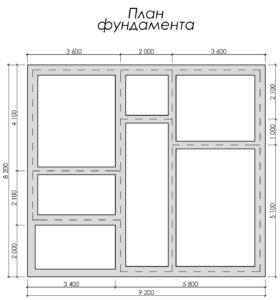 Дом из бруса БСУ-УС 54