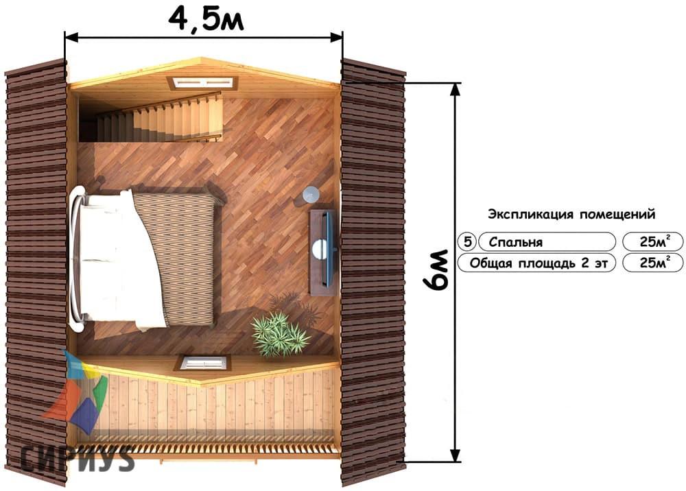 Деревянная баня БСУ-БП 7