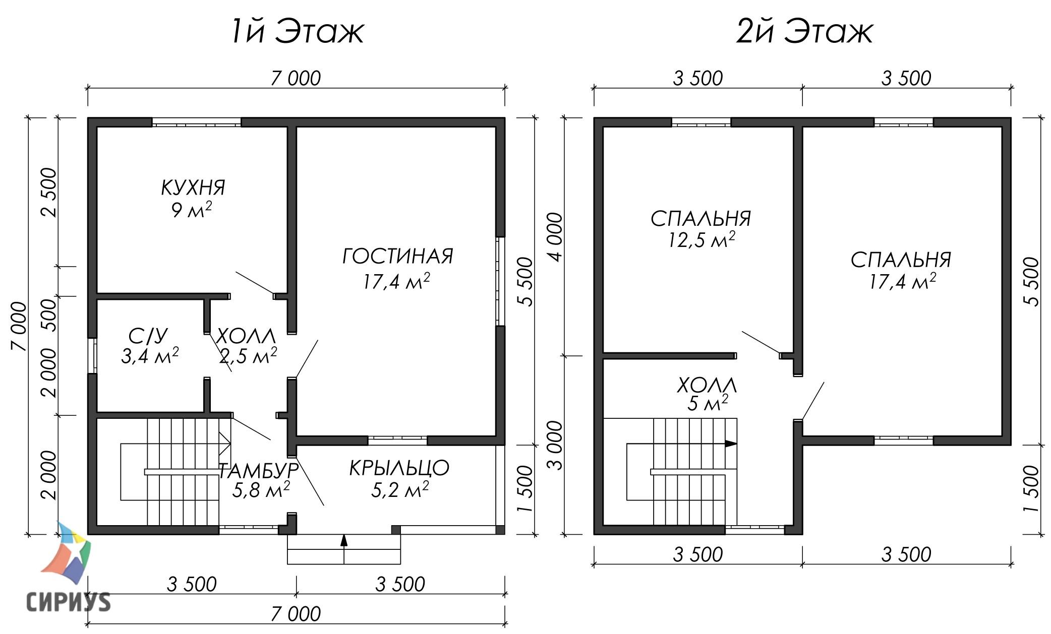 Дом из бруса БСУ-УС 32