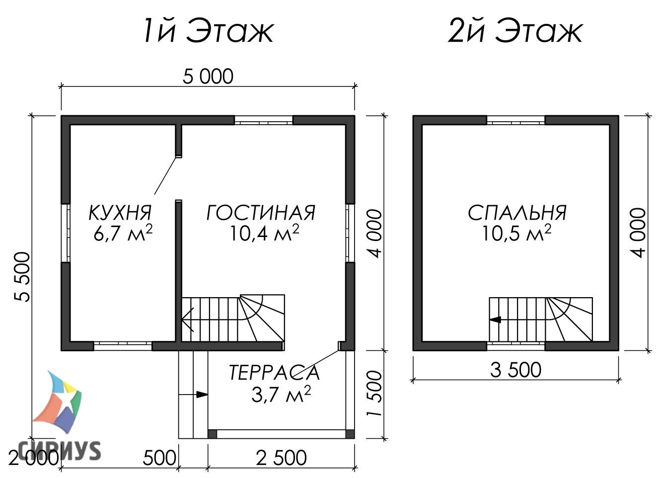 Дом из бруса БСУ-УС 1