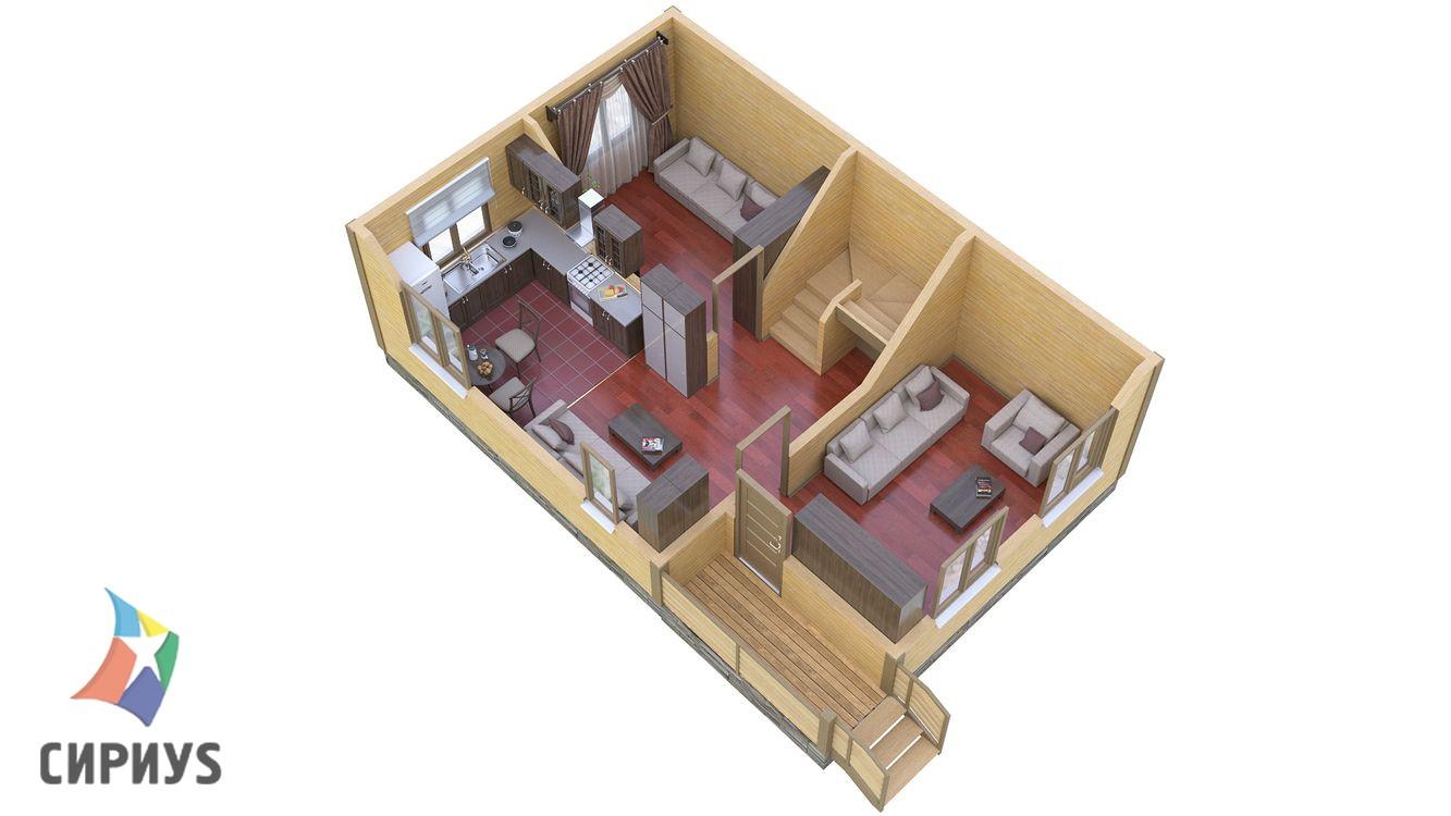 Дом из бруса БСУ-ПБ 8