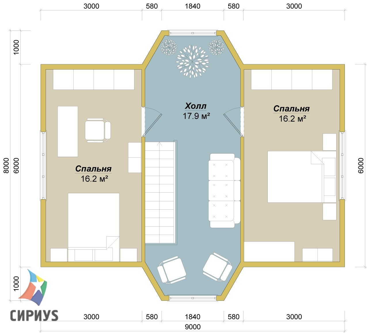 Дом из бруса БСУ-ПБ 14