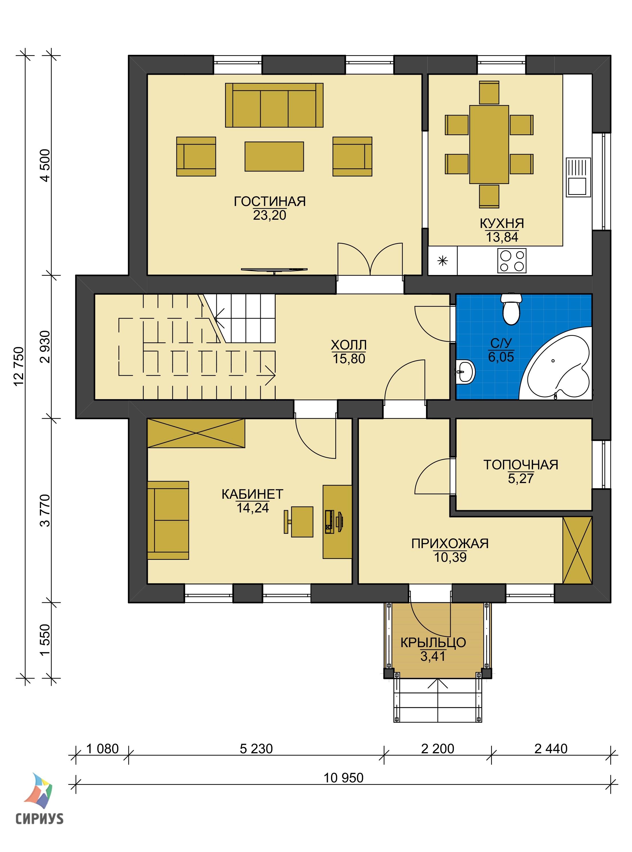 Каркасный дом БСУ-КД 39