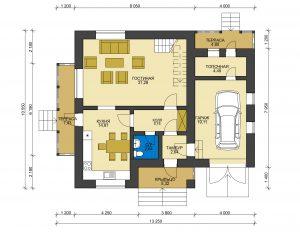 Каркасный дом БСУ-КД 44