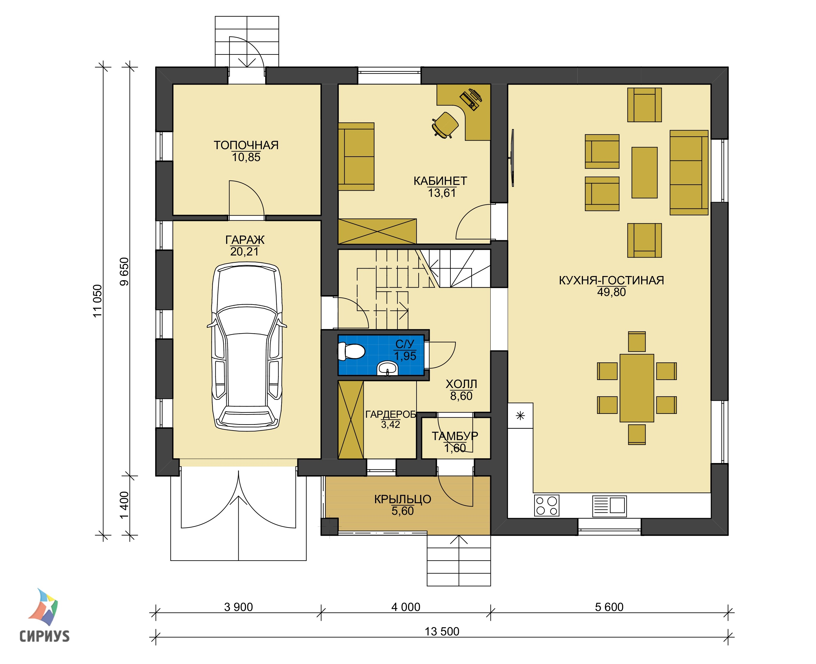 Каркасный дом БСУ-КД 48