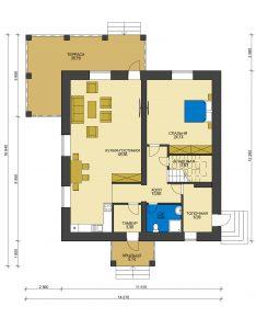 Каркасный дом БСУ-КД 50