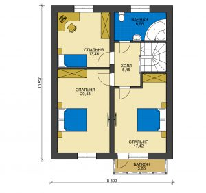 Каркасный дом БСУ-КД 35