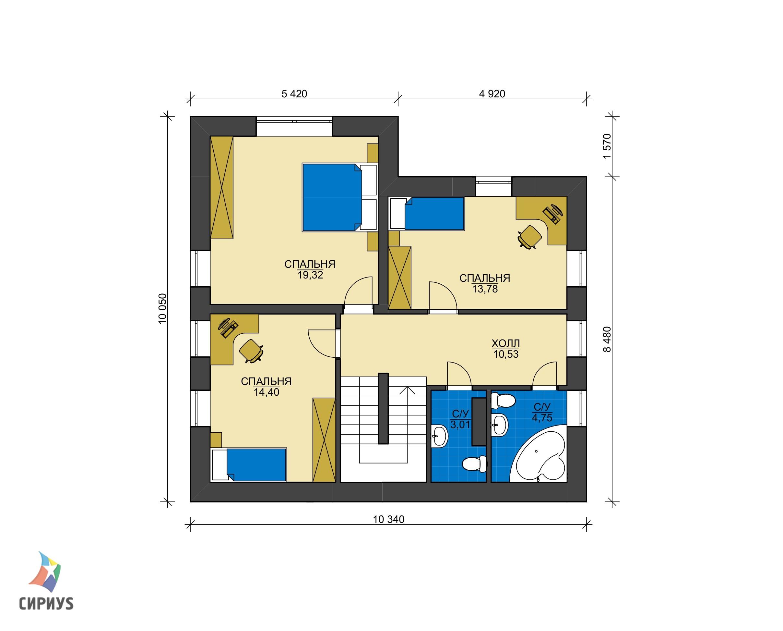 Каркасный дом БСУ-КД 43